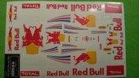 Наклейки на кузов Red Bull Racing F1 RB8  2012, лист на четыре кузова, с вырезанным контуром, лист 167 х 110 мм