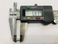 DUBICK Шайба (проставка) алюминиевая на ось 2 мм, шириной 6 мм, 1 шт. - #DE712-6