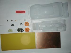 Набор №16 - комплект для сборки моделей первого года обучения с мотором Proslot 16D - #K054
