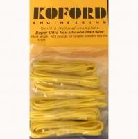 KOFORD Провод силиконовый 18Ga (сечение 0,82 мм²), супер гибкий, жёлтый, 1 м (3 ft) - #M431