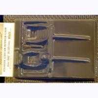 KOLHOZA Салон для кузовов 1/24, неокрашенный, толщиной 0,125 мм - #0121