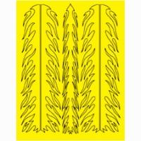 Набор малярных масок PARMA FLAME STRIPES DESIGN, лист 205 х 290 мм - #10662