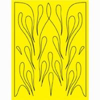 Набор малярных масок PARMA BIG FLAMES, лист 205 х 290 мм - #10667
