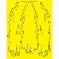 Набор малярных масок PARMA SPLASH DESIGN, лист 205 х 290 мм - #10794