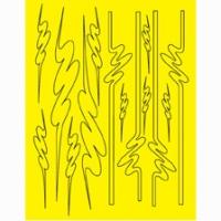 Набор малярных масок PARMA GRAPHIC DESIGN, лист 205 х 290 мм - #10795