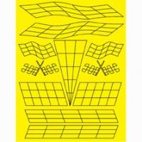 Набор малярных масок PARMA CHECKERED FLAG, лист 205 х 290 мм - #10797