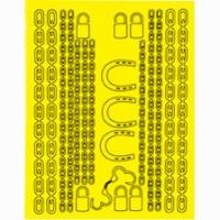 Набор малярных масок PARMA CHAINS DESIGN, лист 205 х 290 мм - #10806