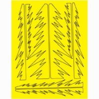 Набор малярных масок PARMA SPIKES DESIGN, лист 205 х 290 мм - #10807