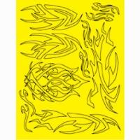 Набор малярных масок PARMA INCA DESIGN, лист 205 х 290 мм - #10813