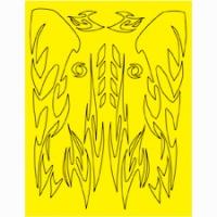 Набор малярных масок PARMA AZTEC DESIGN, лист 205 х 290 мм - #10814