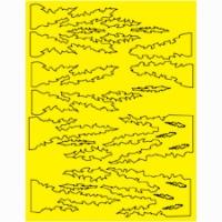 Набор малярных масок PARMA DERANGEMENT DESIGN, лист 205 х 290 мм - #10816