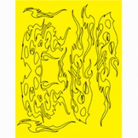 Набор малярных масок PARMA AGGRAVATION DESIGN, лист 205 х 290 мм - #10823