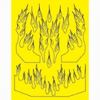 Набор малярных масок PARMA PHAT NASTY FLAMES DESIGN, лист 205 х 290 мм - #10828