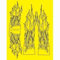 Набор малярных масок PARMA GHOST FLAMES, лист 205 х 290 мм - #10830