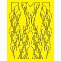 Набор малярных масок PARMA LONG LICKS FLAME DESIGN, лист 205 х 290 мм - #10839