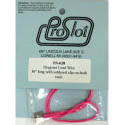 Провод силик. 18Ga (0,82 мм²) припаянный к медным клипсам, розовый, 40 см - #PSL620