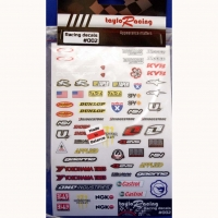 Набор наклеек на кузов Racing decals #002, с вырезанным контуром, лист 167 х 110 мм - #002