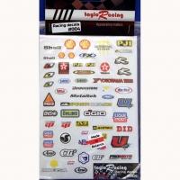 Набор наклеек на кузов Racing decals #004, с вырезанным контуром, лист 167 х 110 мм - #004