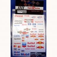 Набор наклеек на кузов Racing decals #005, с вырезанным контуром, лист 167 х 110 мм - #005