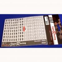 Набор цифровых стикеров TayloRacing для указания номера рейтинга, высота 8 мм, лист 80 х 130 мм - #007