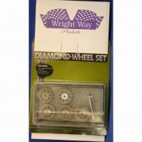 Набор алмазных отрезных дисков 5 шт., с держателем - #WWDCD